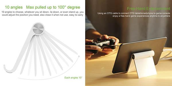 Soporte de mesa para smartphone o tablet