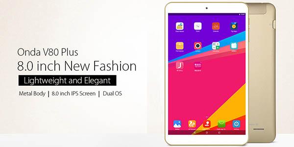 Tablet Onda V80 Plus 8'' con arranque dual