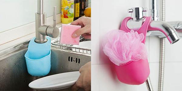 Soporte de silicona para cocina o baño