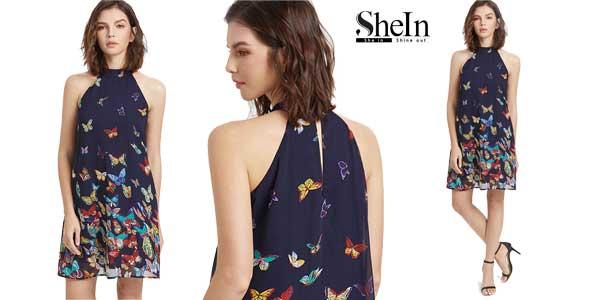Vestido cuello halter marca SheIn chollazo en AliExpress