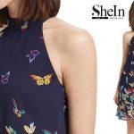 Vestido cuello halter marca SheIn chollo en AliExpress