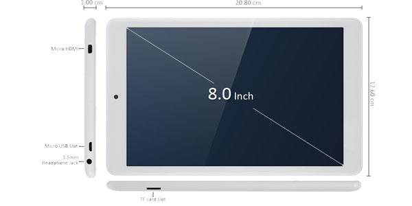 Tablet Teclast X80 Pro PC Blanca barata en Gearbest