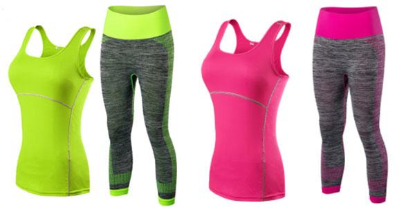 Pack mallas y top deportivo para mujer