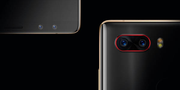 Smartphone ZTE Nubia Z17S negro y dorado