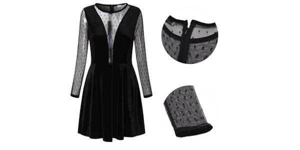 Vestido de terciopelo para mujer chollo en AliExpress