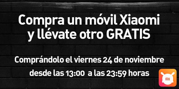 2x1 móviles Xiaomi Black Friday