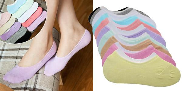 Pack de 3 pares de calcetines invisibles para mujer baratos en AliExpress