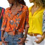 Camisa de poliéster para mujer barata en AliExpress