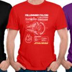 Chollo Camiseta Halcón Milenario de Star Wars para hombre