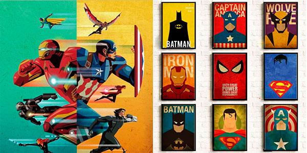 Selección de láminas de superhéroes