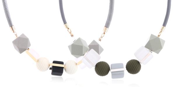 Collar de madera con abalorios geométricos para mujer chollazo en AliExpress