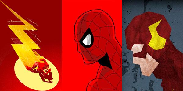 Láminas de superhéroes baratas