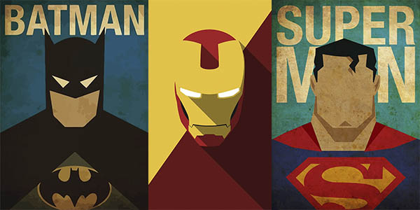 Láminas de superhéroes en AliExpress