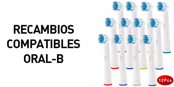 Pack de 12 recambios para cepillo eléctrico Oral-B