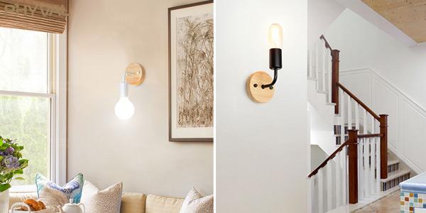 Lámpara LED de pared de estilo retro chollazo en AliExpress