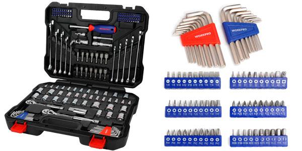 Maletín de herramientas WORKPRO 145 piezas chollazo en AliExpress