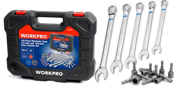 Maletín de herramientas WORKPRO 145 piezas barato en AliExpress