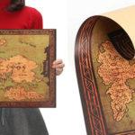 Mapa de Juego de Tronos de estilo vintage