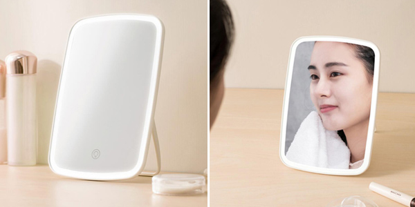 Espejo de maquillaje Xiaomi Mijia con luz LED barato en AliExpress