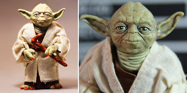 Figura Yoda de Star Wars de 12 cm barata en AliExpress