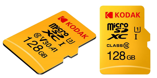 Tarjetas microSD Kodak U3 A1 V30 128 GB baratas en Gearbest