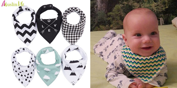 Pack de 4 baberos chulísimos para bebé chollo en AliExpress