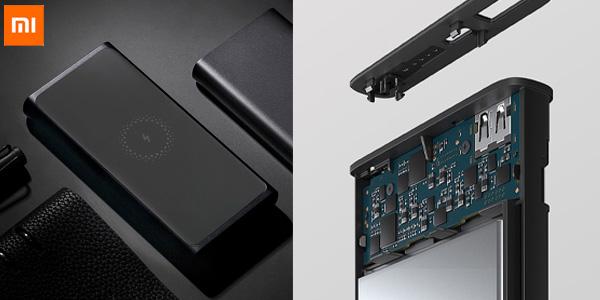 Batería USB portátil Xiaomi de 10.000 mAh con carga inalámbrica Qi chollazo en AliExpress