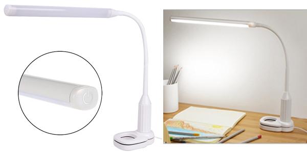 Lámpara LED de escritorio Anpro USB con intensidad ajustable barata en AliExpress
