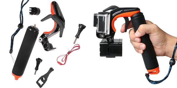 Soporte de mano para cámara deportiva barato en Banggood