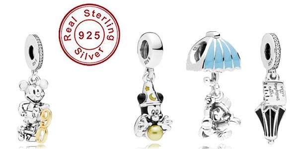 Abalorios Disney para pulsera Pandora baratos en AliExpress
