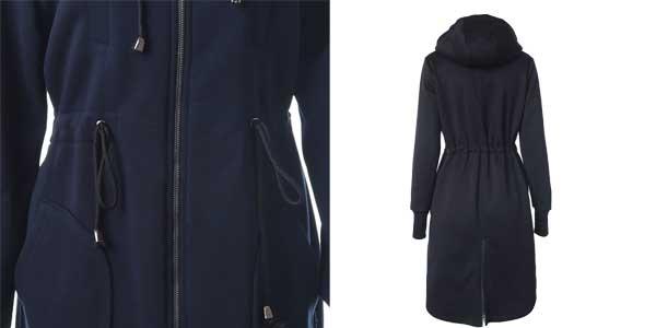 Abrigo ligero de forro polar Toonies con capucha para mujer chollazo en AliExpress