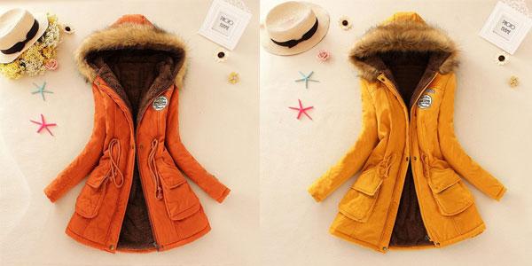 Parka para mujer con capucha en varios colores