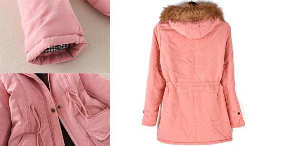 Parka Olgitum con capucha para mujer barata