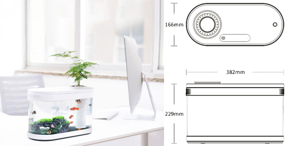 Mini pecera Aquaponics de Geometry Xiaomi chollazo en AliExpress