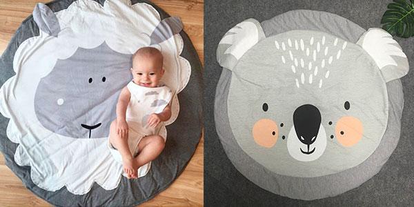 Alfombra acolchada para bebé de 90 cm de diámetro barata