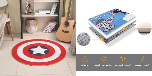 Alfombra Escudo Capitán América chollo en AliExpress