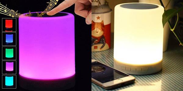 Altavoz bluetooth portátil con luz LED multicolor