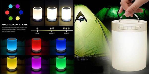 Altavoz bluetooth con luz LED barato