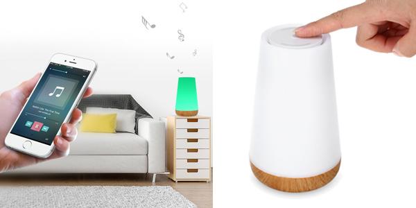 Lámpara LED de ambiente con altavoz Bluetooth barata
