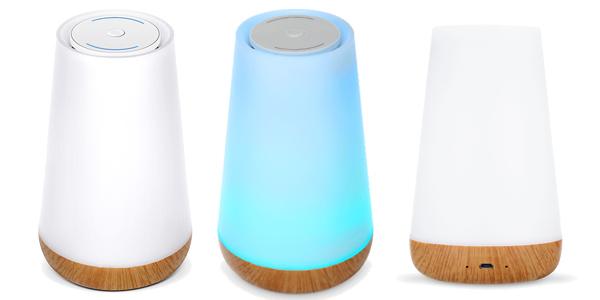Lámpara LED de ambiente con altavoz Bluetooth con luz en varios colores