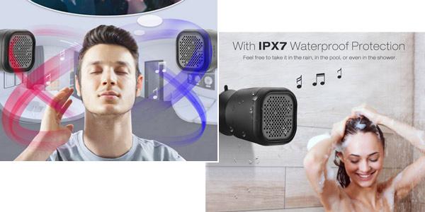 Altavoz Bluetooth Digoo DG-MX10 con ventosa y resistente al agua en Banggood