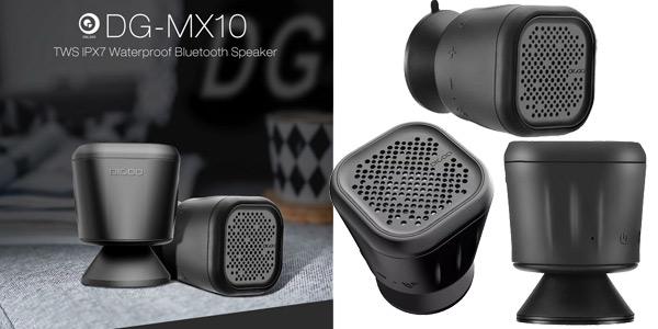 Altavoz Bluetooth Digoo DG-MX10 con ventosa y resistente al agua barato en Banggood