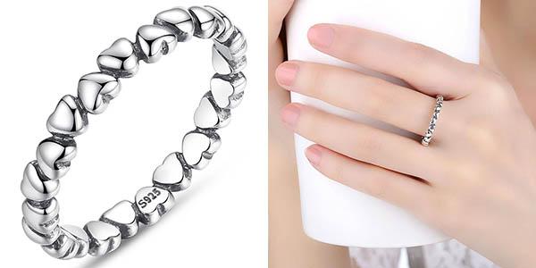 Anillo de plata Bamoer estilo Pandora barato