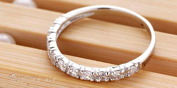 Anillo de plata y circonitas estilo Pandora