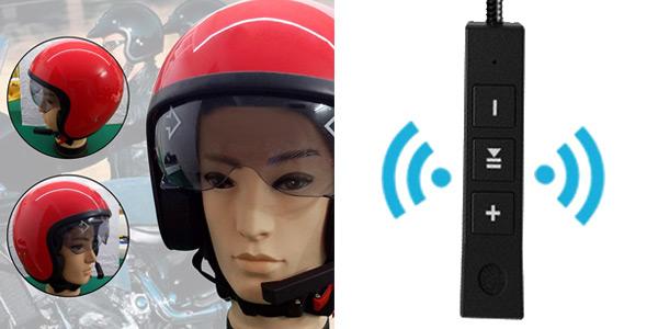 Auricular inalámbrico BT para casco de moto chollo en Tomtop