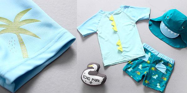 Conjunto de ropa de baño infantil con factor protección UPF50+ barato