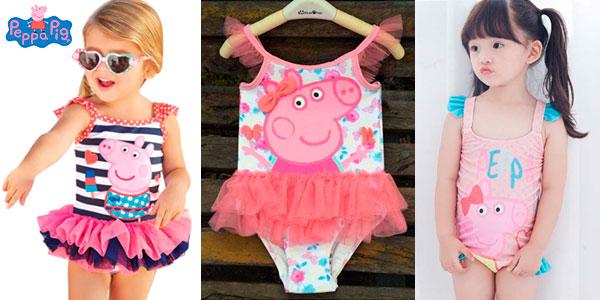 Bañador infantil de Peppa Pig para niña barato