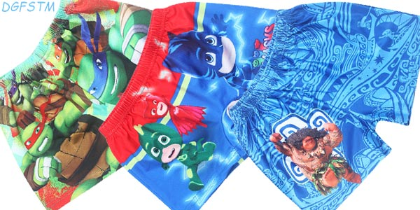 Bañadores DGFSTM con estampados de personajes de animación para niños