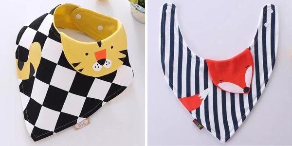 Baberos para bebés con divertidos diseños de animalitos chollo en AliExpress