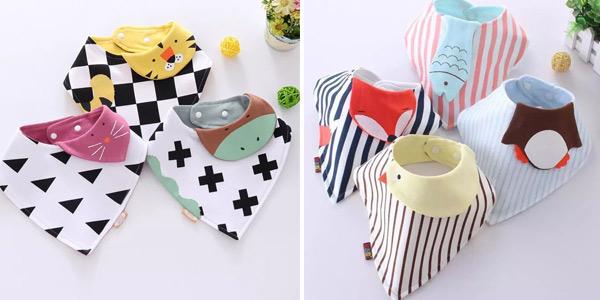 Baberos para bebés con divertidos diseños de animalitos baratos en AliExpress